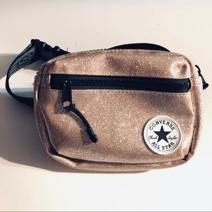 Converse Patch Rose Gold Pink Glitter Fanny Pack
